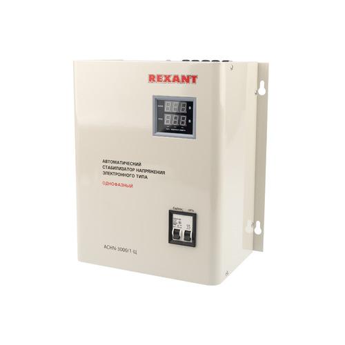 Стабилизатор напряжения REXANT АСНN-3000/1-Ц, серый [11-5014] стабилизатор напряжения rexant аснn 500 1 ц серый [11 5018]