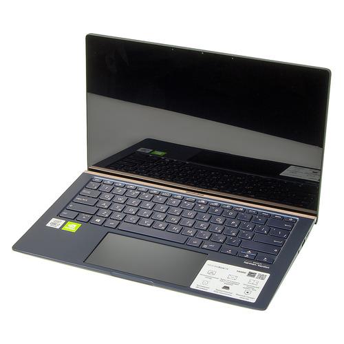 Ультрабук ASUS Zenbook UX434FQ-A6073R, 14, Intel Core i7 10510U 1.8ГГц, 16ГБ, 512ГБ SSD, NVIDIA GeForce MX350 - 2048 Мб, Windows 10 Professional, 90NB0RM1-M01660, синий ноутбук asus zenbook ux392fn ab006r 13 9 ips intel core i7 8565u 1 8ггц 16гб 512гб ssd nvidia geforce mx150 2048 мб windows 10 professional 90nb0kz1 m01290 голубой
