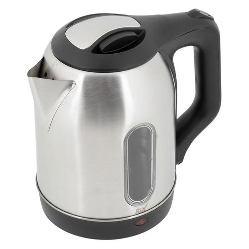 Чайник электрический RIX RKT-1811SW, 1500Вт, серебристый и черный сушилка rix rxd 125 белый