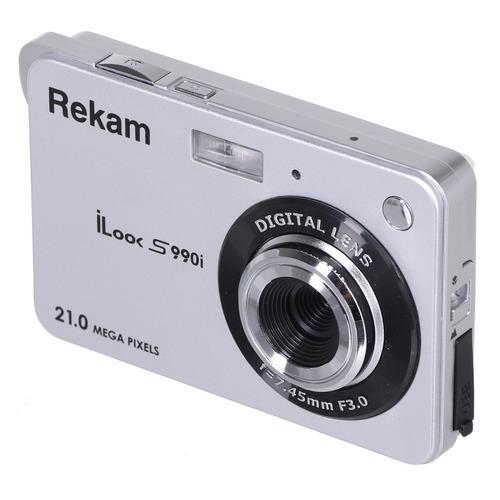 Фото - Цифровой фотоаппарат REKAM iLook S990i, серебристый цифровой фотоаппарат rekam ilook s750i золотистый
