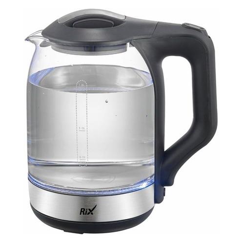 Чайник электрический RIX RKT-1831G, 1500Вт, серебристый и черный