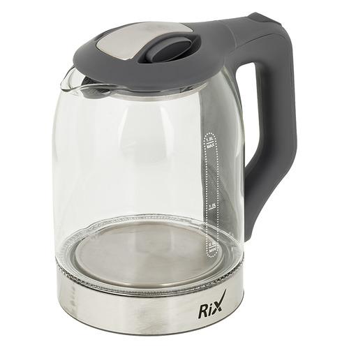 Чайник электрический RIX RKT-1832G, 1500Вт, серебристый сушилка rix rxd 125 белый