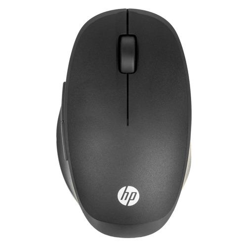 Мышь HP Dual Mode Black Mouse, оптическая, беспроводная, USB, черный [6cr71aa] мышь беспроводная hp 200 silk золотистый чёрный usb 2hu83aa