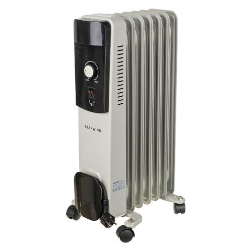 Масляный радиатор STARWIND SHV4710, 1500Вт, белый биметаллический радиатор rifar рифар b 500 нп 10 сек лев кол во секций 10 мощность вт 2040 подключение левое