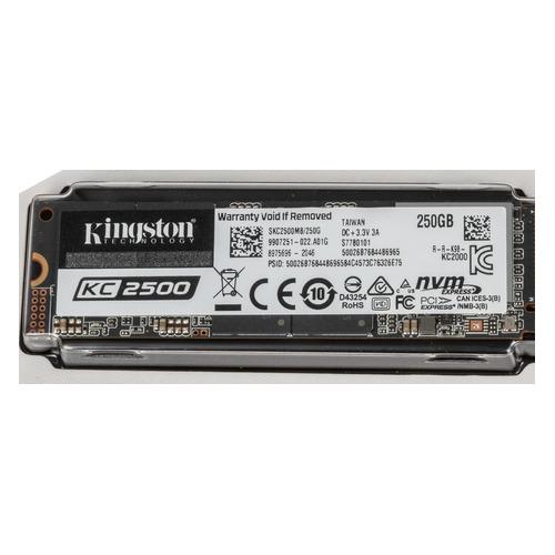 SSD накопитель KINGSTON KC2500 SKC2500M8/250G 250ГБ, M.2 2280, PCI-E x4, NVMe