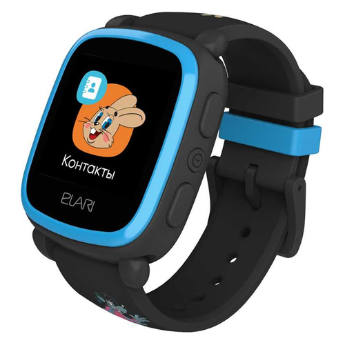 Смарт-часы ELARI KidPhone Ну, погоди!, 1.4 , черный / черный  - купить со скидкой