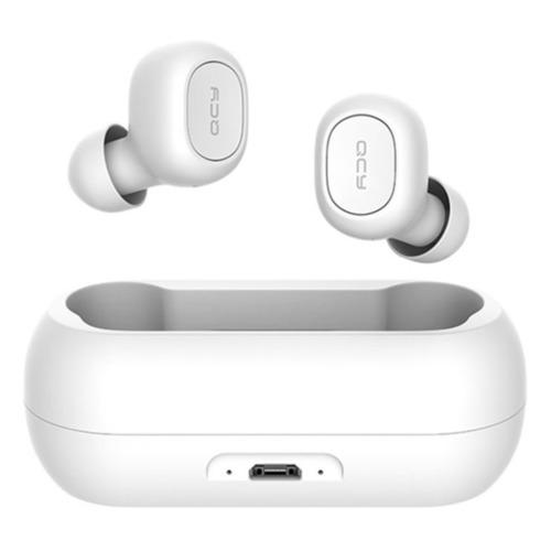 Гарнитура QCY Т1, Bluetooth, вкладыши, белый недорого