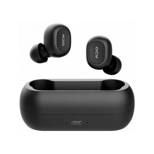 Наушники с микрофоном QCY Т1, Bluetooth, вкладыши, черный цена 2017
