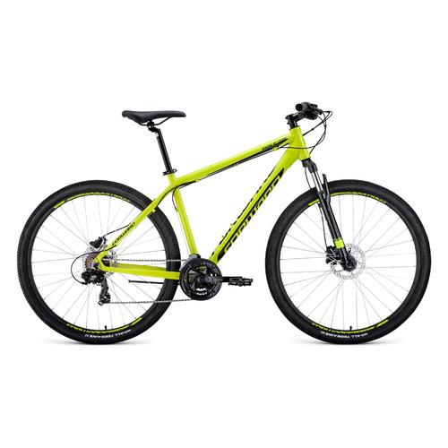 цена на Велосипед Forward Apache 3.0 Disc (2020) горный рам.:19 кол.:29 желтый/черный 15.2кг (1BKW0M69Q012
