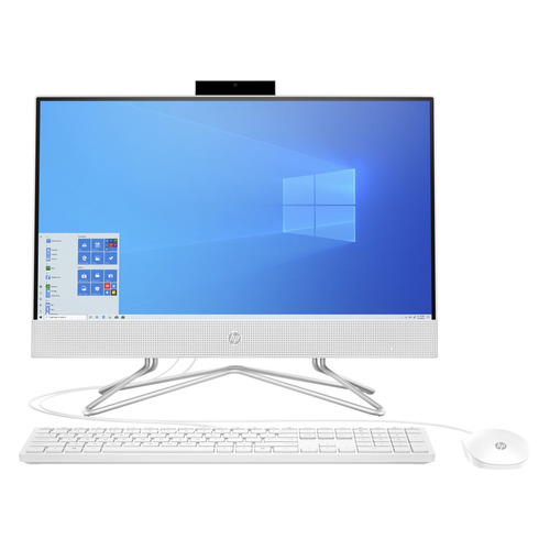 "Моноблок HP 22-df0045ur, 21.5"", AMD Ryzen 3 3250U, 4ГБ, 128ГБ SSD, AMD Radeon Graphics, Windows 10, белый [14p74ea]"
