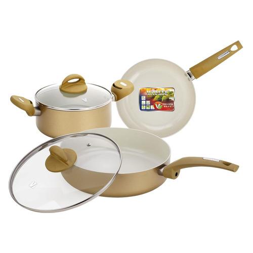 Набор посуды VITESSE VS-2225, 5 предметов набор кухонной посуды c внутренним керамическим покрытием vitesse vs 2217