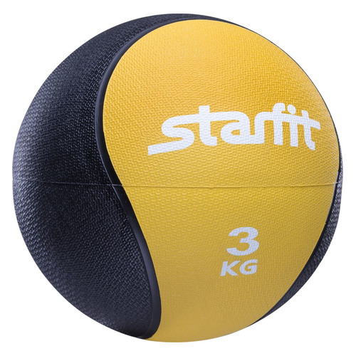 Медбол Starfit Pro GB-702 ф.:круглый d=22.8см желтый/черный (УТ-00007300)