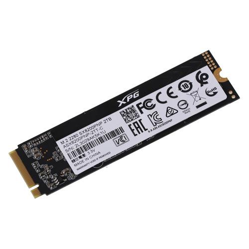 Фото - SSD накопитель A-DATA XPG SX8200 Pro ASX8200PNP-2TT-C 2ТБ, M.2 2280, PCI-E x4, NVMe твердотельный накопитель ssd a data ssd накопитель xpg sx8200 pro asx8200pnp 2tt c 2tb