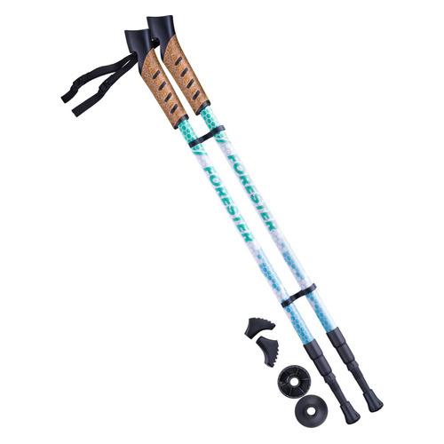 Палки для ходьбы Berger Forester дл.:135см белый/мятный компл.:2шт (УТ-00010964)