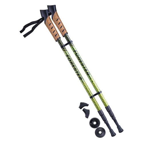 Палки для ходьбы Berger Forester дл.:135см болотный/желтый компл.:2шт (УТ-00010965)