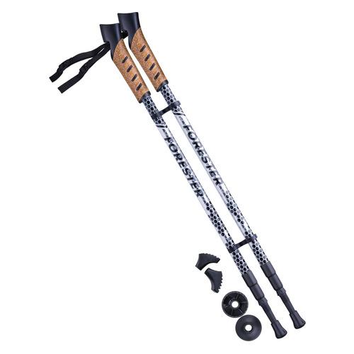 Палки для ходьбы Berger Forester дл.:135см серый/черный компл.:2шт (УТ-00010963)