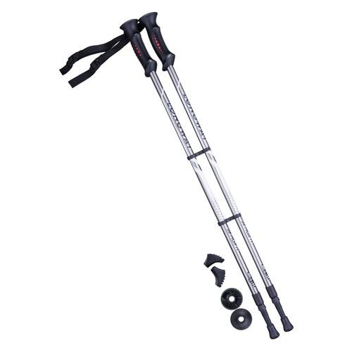 Палки для ходьбы Berger Longway дл.:135см серый/черный компл.:2шт (УТ-00010961)