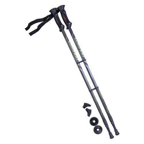 Палки для ходьбы Berger Longway дл.:135см черный/зеленый компл.:2шт (УТ-00010960)