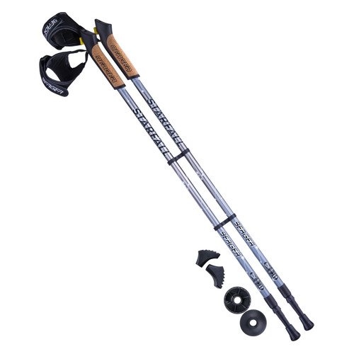 Палки для ходьбы Berger Starfall дл.:135см серый/черный компл.:2шт (УТ-00010970)
