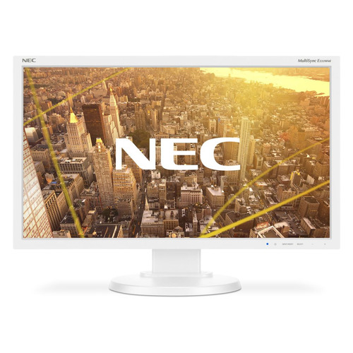 Монитор NEC MultiSync E233WMi 23, белый монитор 23 nec ea234wmi черный ips 1920x1080 250 cd m^2 6 ms dvi hdmi displayport vga аудио usb