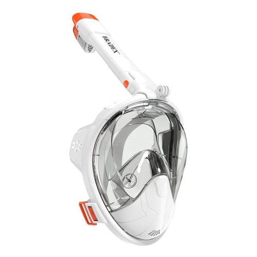 Маска Bradex SF 0549 для снорклинга м.:S белый/оранжевый