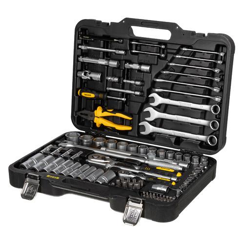 Набор инструментов BERGER BG099-1214, 99 предметов ключ трещотка 3 8 72 зуба comfort с быстрым сбросом crv 2 х комп рукоятка gross