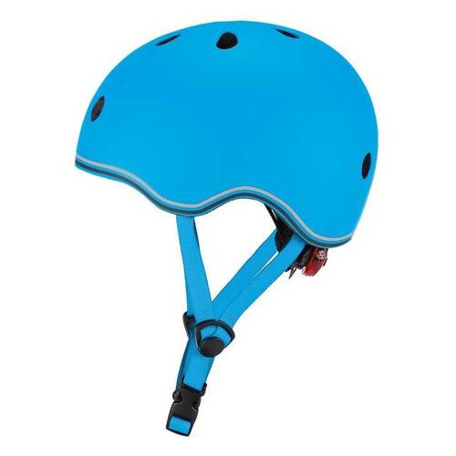 Шлем для велосипеда/самоката Globber Evo Lights р.:45-51 голубой (506-101)