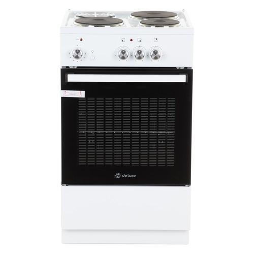 Электрическая плита DE LUXE 5003.18э, эмаль, без крышки, белый