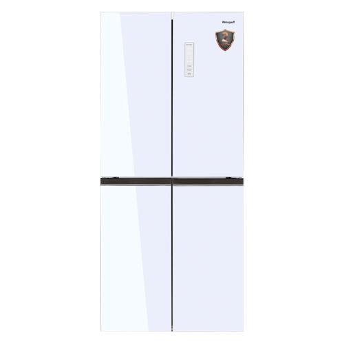 Холодильник WEISSGAUFF WCD 486 NFW, трехкамерный, белый