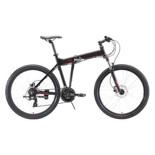 цена на Велосипед Stark Cobra HD (2020) горный складной рам.:18 кол.:26 черный/красный 16.3кг (H000016462)