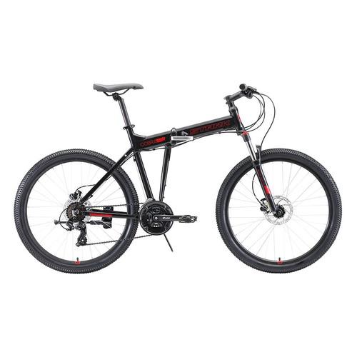 цена на Велосипед Stark Cobra HD (2020) горный складной рам.:20 кол.:26 черный/красный 16.4кг (H000016463)