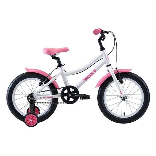 цена на Велосипед Stark Foxy Girl (2020) горный кол.:16 белый/розовый 10кг (H000016493)