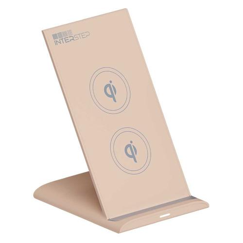 Беспроводное зарядное устройство INTERSTEP Qi WCH-2C, USB type-C, 3A, песочный зарядное