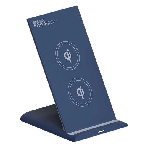 Беспроводное зарядное устройство INTERSTEP Qi WCH-2C, USB type-C, 3A, синий