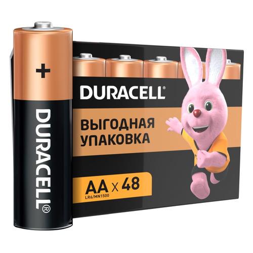 AA Батарейка DURACELL Basic CN LR6-48BL MN1500, 48 шт. 1000мAч батарейка aa duracell lr6 mn1500 2 штуки