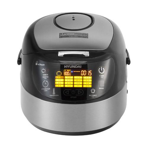 Мультиварка HYUNDAI HYMC-1610, 850Вт, серебристый/черный