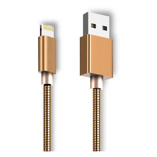 Кабель GINZZU GC-556G, Lightning (m), USB A(m), 1.0м, золотистый