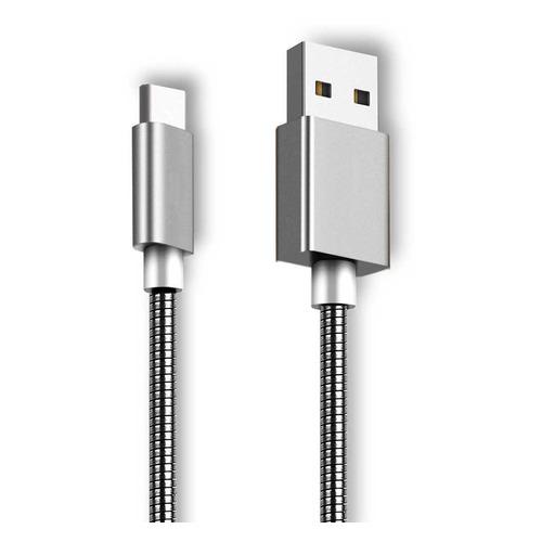 Кабель GINZZU GC-806S, USB A(m), USB Type-C (m), 1.0м, серебристый