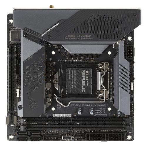 Материнская плата ASUS ROG STRIX Z490-I GAMING, LGA 1200, Intel Z490, mini-ITX, Ret