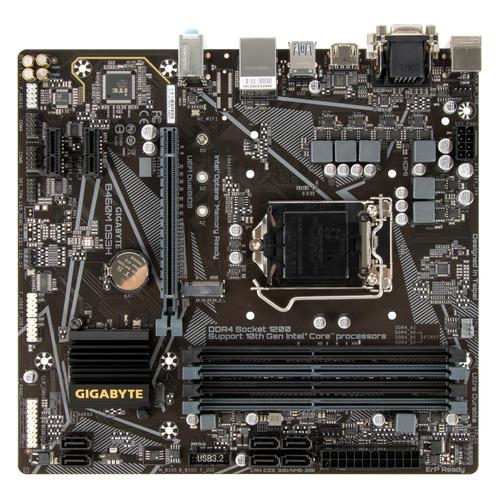 Фото - Материнская плата GIGABYTE B460M DS3H, LGA 1200, Intel B460, mATX, Ret материнская плата gigabyte b460m ds3h