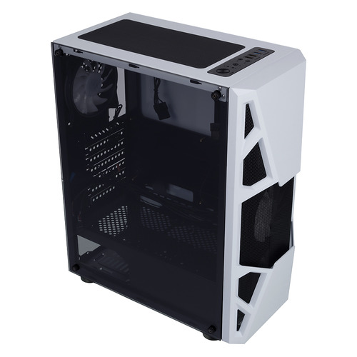 Корпус ATX FORMULA CL-3303W RGB, Midi-Tower, без БП, белый