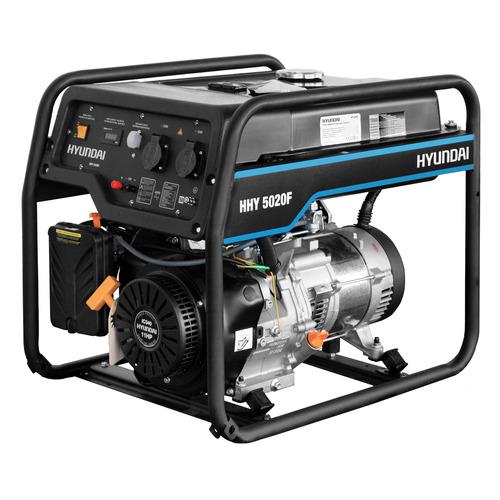 Бензиновый генератор HYUNDAI HHY 5020F, 230 В, 4.5кВт бензиновый генератор hyundai hhy 5020fe 230 в 4 5квт