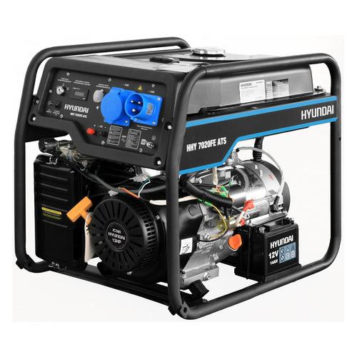 Бензиновый генератор HYUNDAI HHY 7020FE ATS, 230 В, 5.5кВт бензиновый генератор hyundai hhy 5020fe 230 в 4 5квт