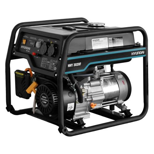 Бензиновый генератор HYUNDAI HHY 3020F, 230 В, 3.1кВт бензиновый генератор hyundai hhy 5020fe 230 в 4 5квт