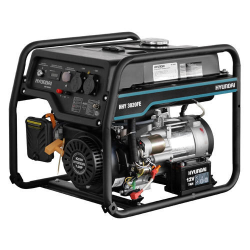 Бензиновый генератор HYUNDAI HHY 3020FE, 230 В, 3.1кВт бензиновый генератор hyundai hhy 5020fe 230 в 4 5квт