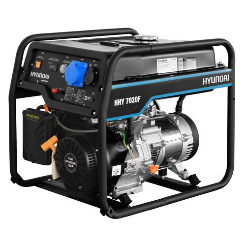 Бензиновый генератор HYUNDAI HHY 7020F, 230 В, 5.5кВт бензиновый генератор hyundai hhy 5020fe 230 в 4 5квт
