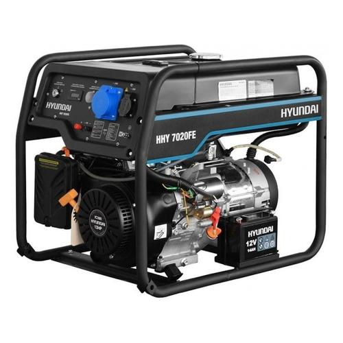 Бензиновый генератор HYUNDAI HHY 7020FE, 230, 5.5кВт бензиновый генератор hyundai hhy 7020fe 5000 вт