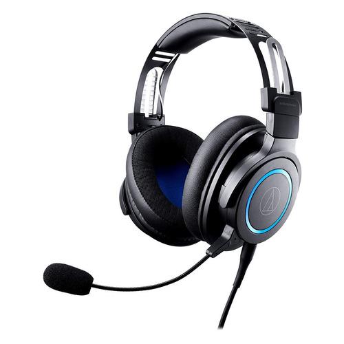 Гарнитура игровая AUDIO-TECHNICA ATH-G1, для ПК и игровых консолей, мониторные, черный / синий [80000808]