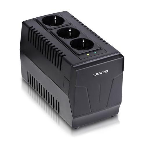 Стабилизатор напряжения SUNWIND AVR-1500 черный