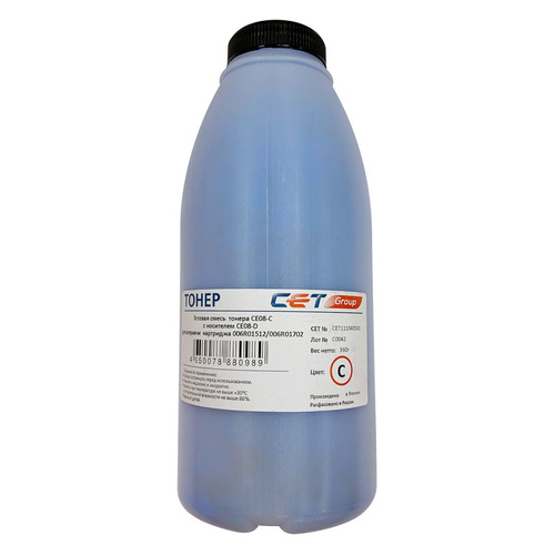 Тонер CET CE08-C/CE08-D, для Xerox AltaLink C8045/8030/8035; WorkCentre 7830, голубой, 360грамм, бутылка, девелопер девелопер xerox 604k22540